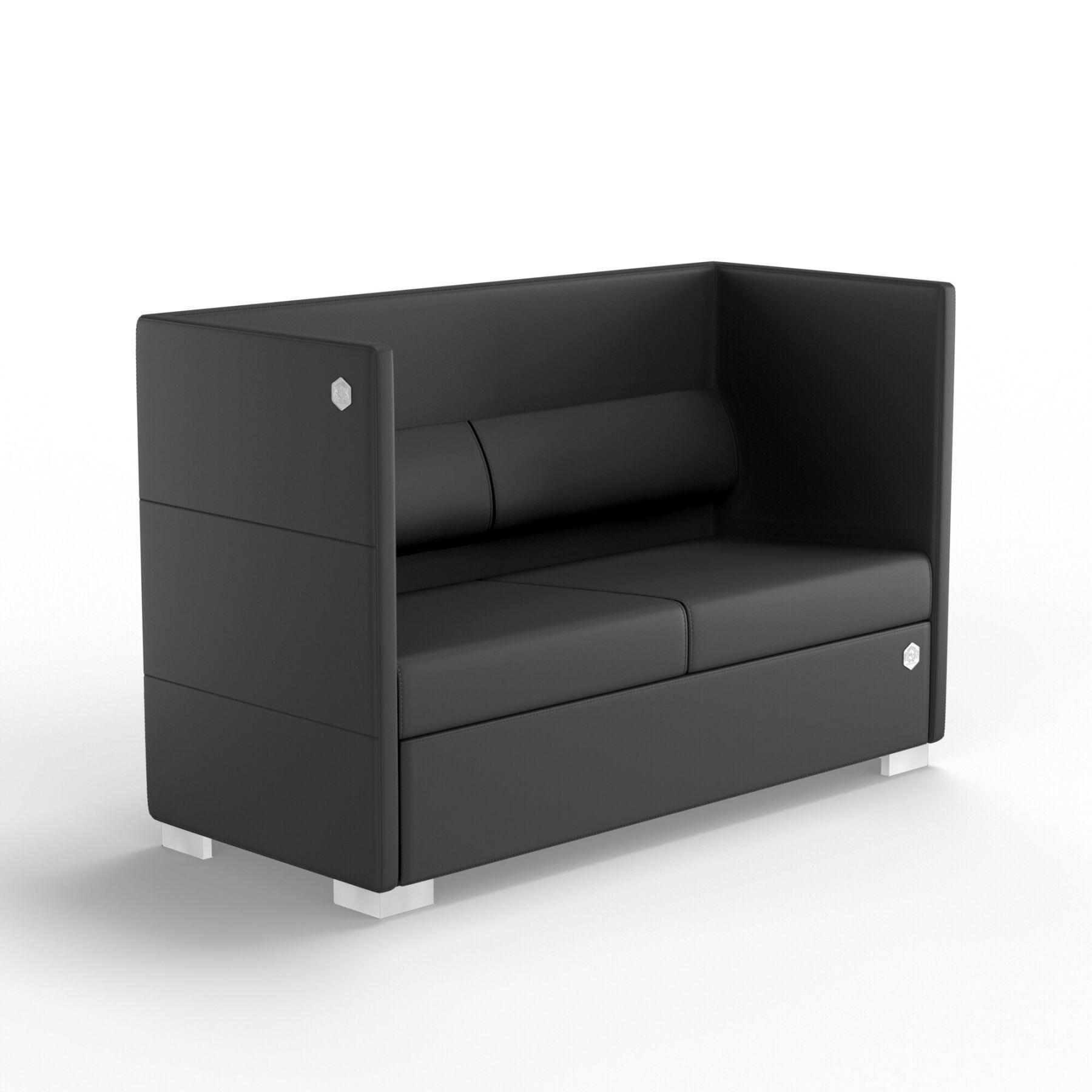 Двухместный диван KULIK SYSTEM CONFERENCE Экокожа 2