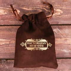 Галстук в подарочном мешочке + открытка