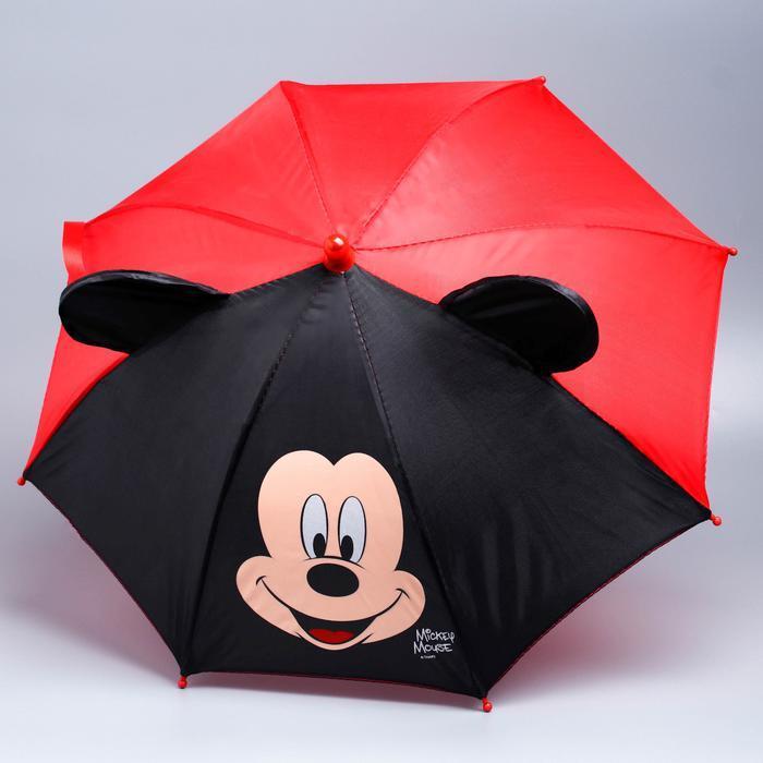 Зонт детский Микки Маус, 8 спиц с ушами фото