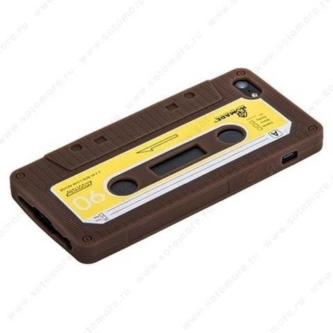 Накладка силиконовый для Apple iPhone SE/ 5s/ 5C/ 5 кассета коричневый