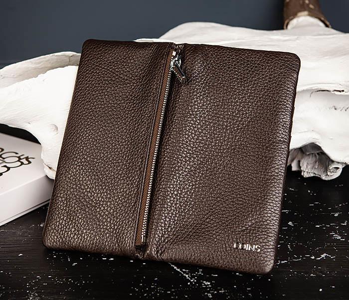 WL336-2 Портмоне клатч из натуральной коричневой кожи «Hanz» фото 04