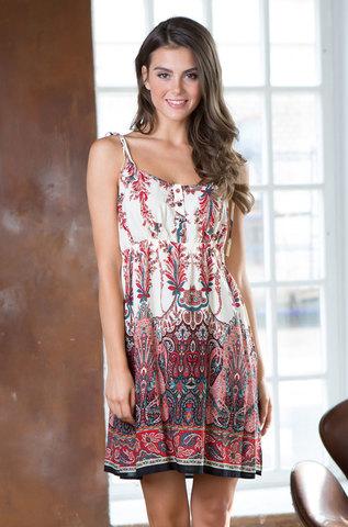 Сорочка  женская из вискозы MIA-MIA  Shakira ШАКИРА 16071 красный