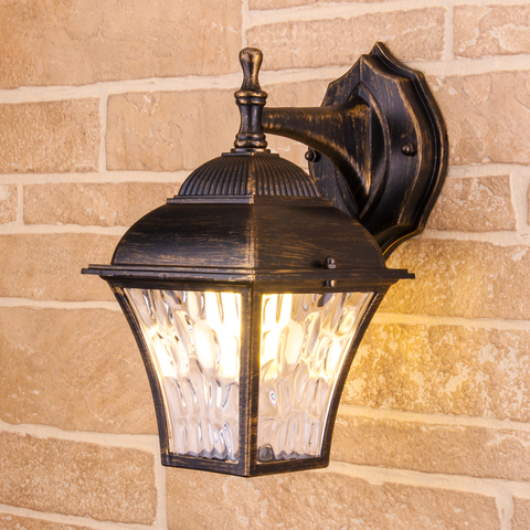 Apus D черное золото уличный настенный светильник GL 1009D