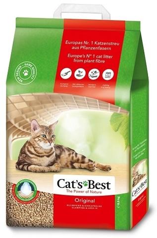 Cat's Best Original наполнитель древесный без запаха 8,6кг 20л