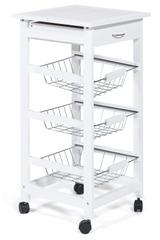 Столик передвижной кухонный разделочный (mod. JW3-2014-1) —  белый