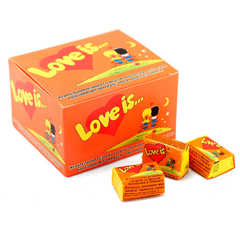Блок жвачек Love is — Апельсин-Ананас (20 шт.)