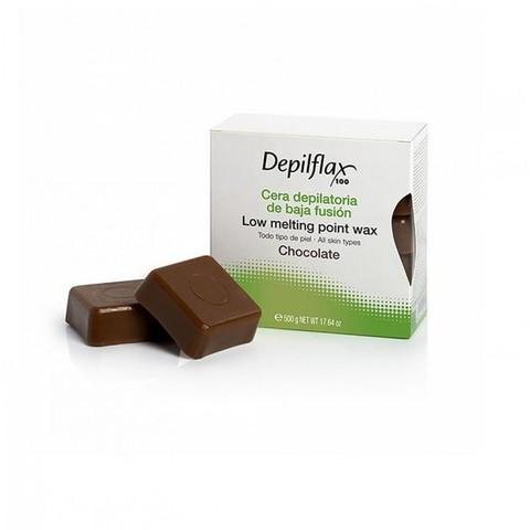 Горячий воск для депиляции в брикетах - Шоколад 500 г.