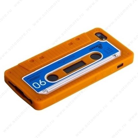 Накладка силиконовый для Apple iPhone SE/ 5s/ 5C/ 5 кассета оранжевый