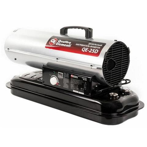 Нагреватель воздуха дизельный прямого нагрева QUATTRO ELEMENTI QE- 25D (25кВт, 400 м.куб/ч (772-333)