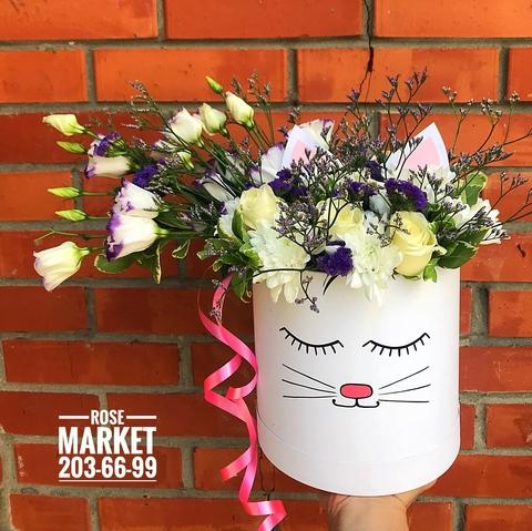 Цветы в шляпной коробке #19993