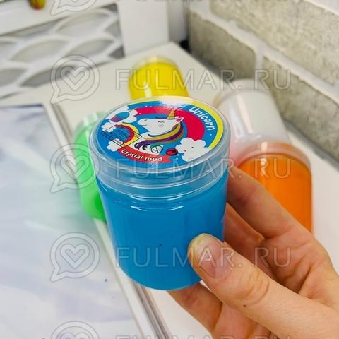 Набор 6 штук слаймы лизуны в бутылках Неон