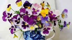 Картина раскраска по номерам 40x50 Яркий фиолетовый букет