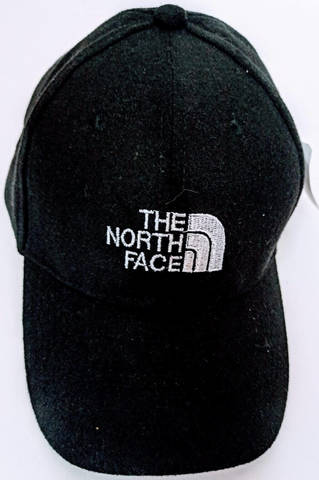 Черная кепка с надписью.  Американская бейсболка The North Face NN-Black.