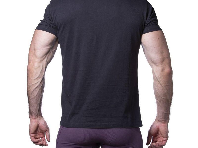 Мужская футболка черная Sergio Dallini SDT761-2