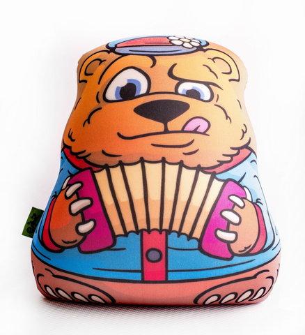 Подушка-игрушка «Медведь-гармонист»-2