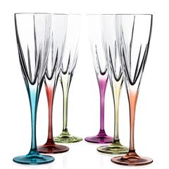 Набор фужеров для шампанского RCR Fusion цветные 170мл (6 шт), фото 1