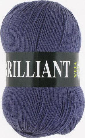Пряжа Brilliant Vita 4982 темно-серо-голубой фото