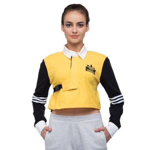 Футболка женская adidas ORIGINALS Olivia OBlanc Rugby Strap LS