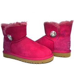 UGG Mini Bailey Button Bling Dusty Rose