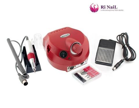 Аппарат для маникюра и педикюра nail drill 25000, красный