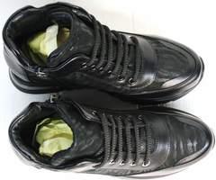 Кожаные кроссовки сникерсы осенние Evromoda 965 Black