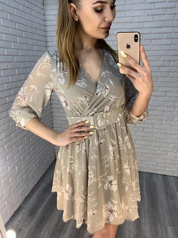 серое летнее платье недорого