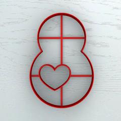 Восьмерка с сердцем