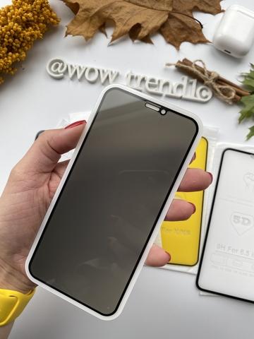 Стекло защитное iPhone X/XS 2.5D Black Privacy Антишпион