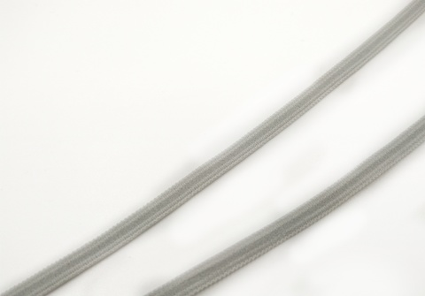 Резинка отделочная светло-серая 4 мм