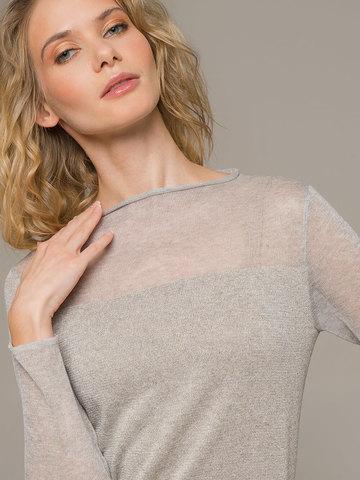 Женский джемпер цвета серый меланж - фото 2