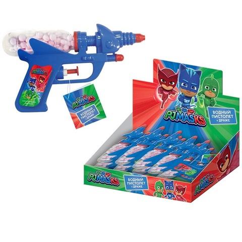 PJ MASKS Драже с игрушкой Водный пистолет 1кор*6бл*12шт, 10г.