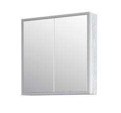 Зеркало-шкаф Corozo Айрон 70, серый