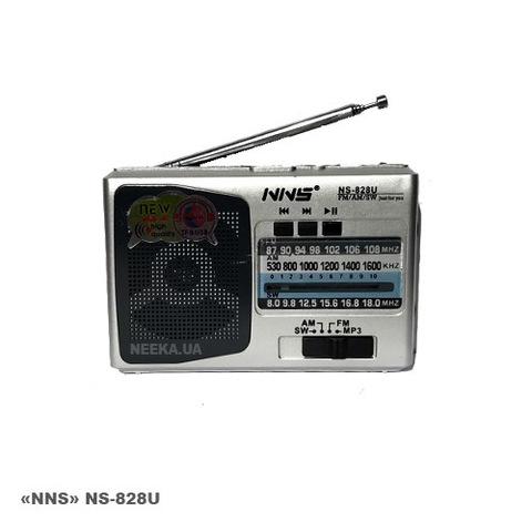 Портативная колонка NS-838U MP3/FM/MicroSD/USB (4xAA)