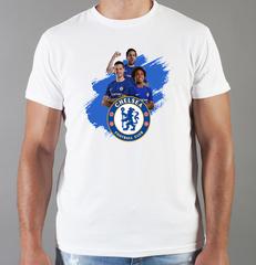Футболка с принтом FC Chelsea (ФК Челси) белая 005