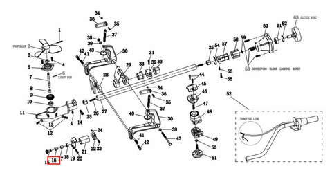 Подшипник 10*15 для лодочного мотора T2 SEA-PRO