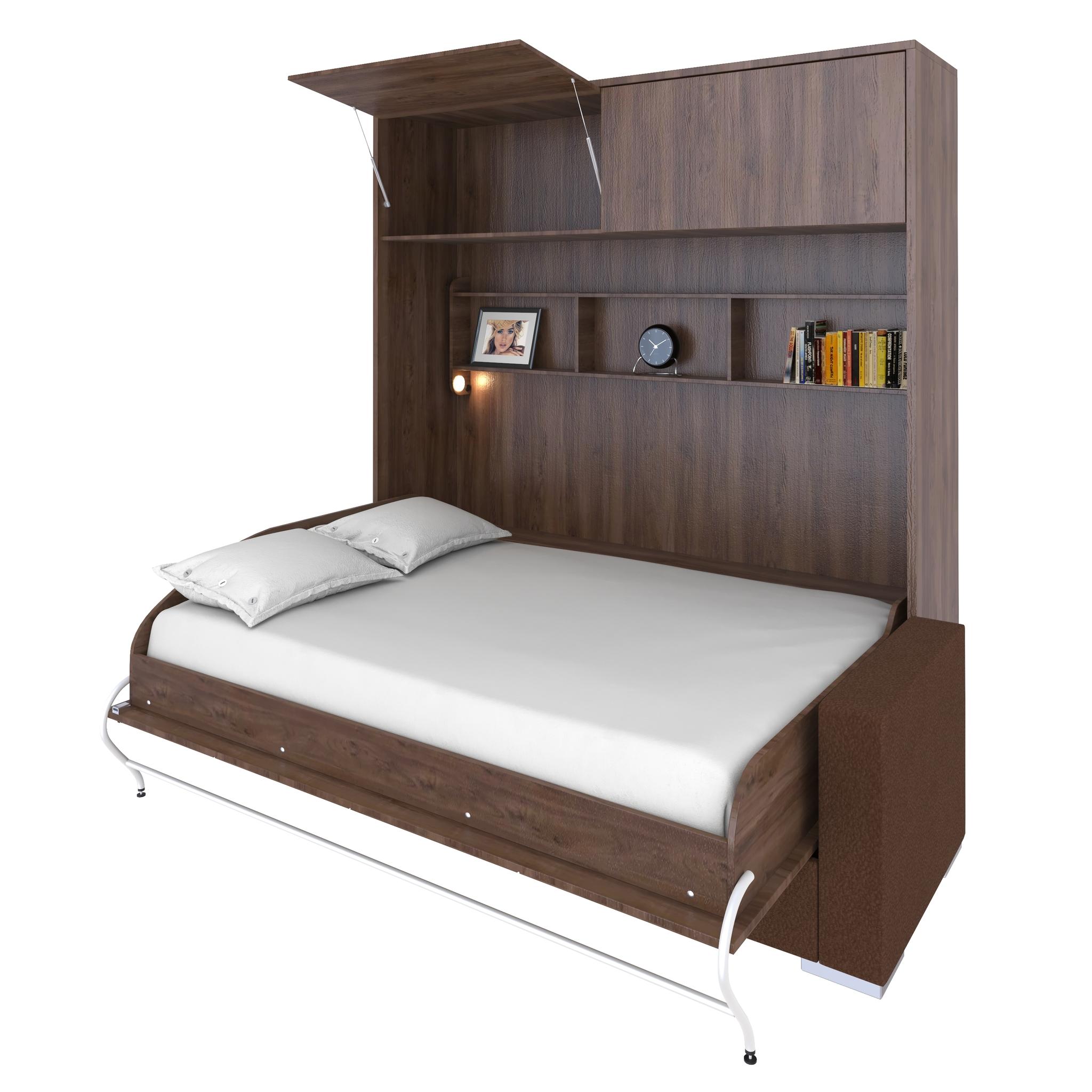 Шкаф-кровать с диваном горизонтальная двуспальная 140 см