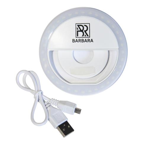 Круглая LED лампа FLASH LIGHT для смартфона