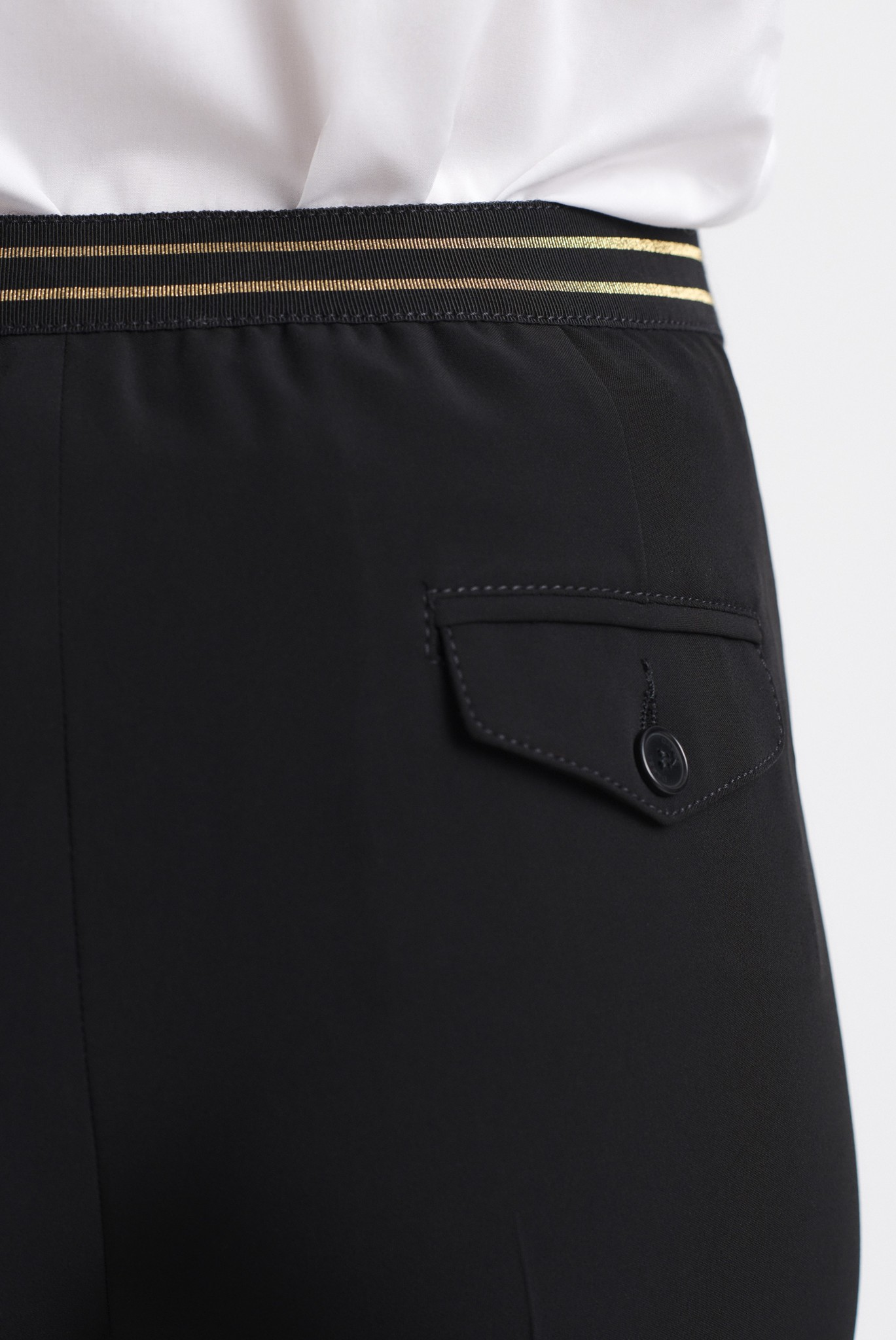 MARZIA - брюки из крепа прямого кроя