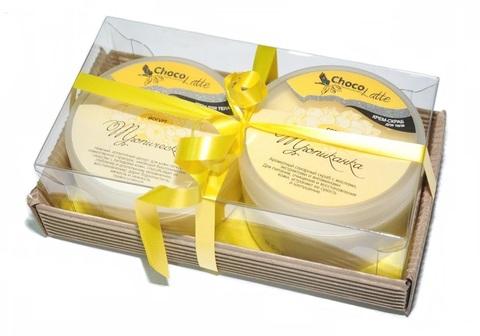Набор подарочный №12 для тела Тропиканка (крем-скраб Сорбе Тропиканка, Йогурт Тропический)/ТМChocolatte
