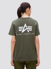 Футболка Alpha Industries Small Logo Olive Женская (Зеленая)