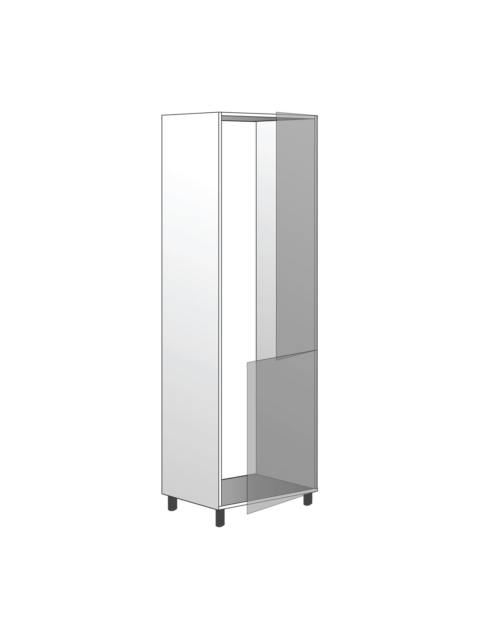 Напольный  шкаф для встроенного холодильника, 1920Х600 мм