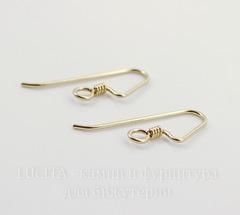 Швензы-крючки TierraCast с пружинкой 22х9 мм (цвет-золото), Gold filled 14K, пара