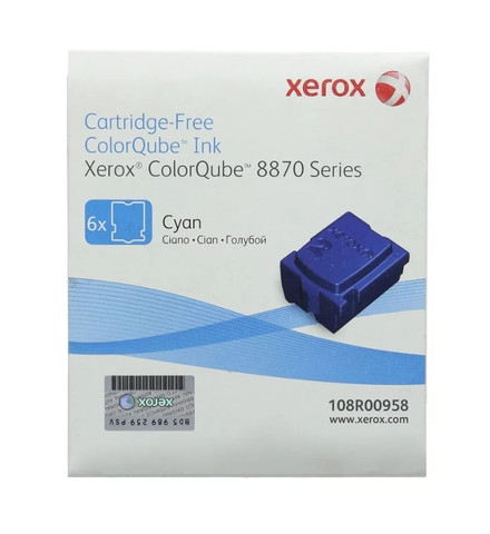 Чернила Xerox 108R00958, голубые (6шт)