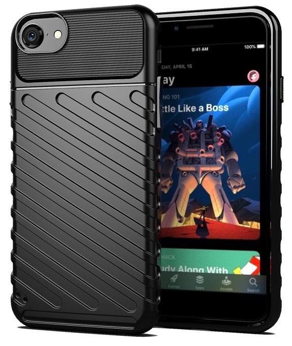 Чехол клип-кейс для iPhone SE (2020) черного цвета, серии Onyx от Caseport