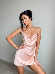 Платье короткое пудровое Lilit