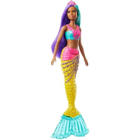 Барби Дримтопия Русалка с зелеными и фиолетовыми волосами