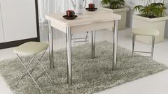 Стол обеденный с хромированными ножками «Лион» СМ-204.02.2. Доставка Бесплатно!!!!