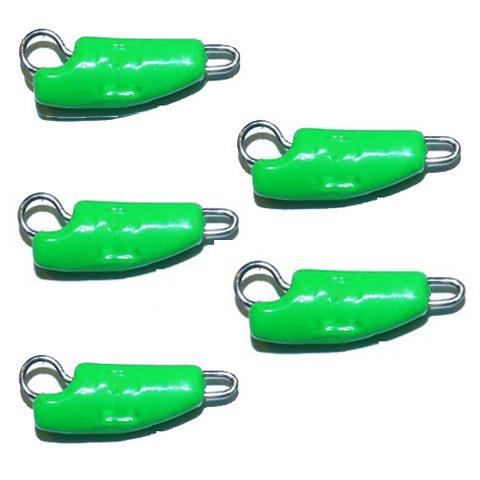 Груз-головки ПРОХОДИМЕЦ разборные 8г, зеленые, упаковка 5шт