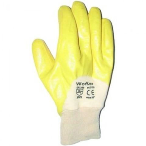Перчатки рабочие Лайт из трикотажного полотна с нитриловым покрытием (манжета резинка)