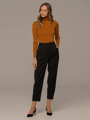 Женский свитер терракотового цвета из 100% шерсти - фото 5